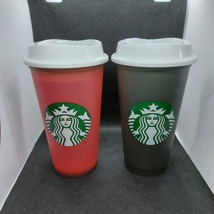 2 Starbucks Hot/Cold Colour Changing Cups